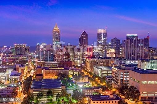 istock Midtown Atlanta Skyline 594456122