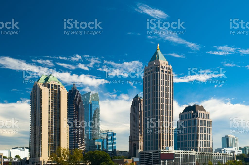 "Midtown Atlanta skyscrapers ""Midtown Atlanta's skyline of skyscrapers, including One Atlantic Center."" Apartment Stock Photo"