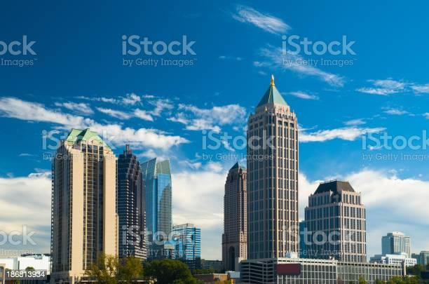 Midtown Atlanta Skyscrapers Stock Photo - Download Image Now