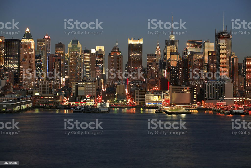 Midtown Manhattan across the Hudson River, New York royalty-free stock photo
