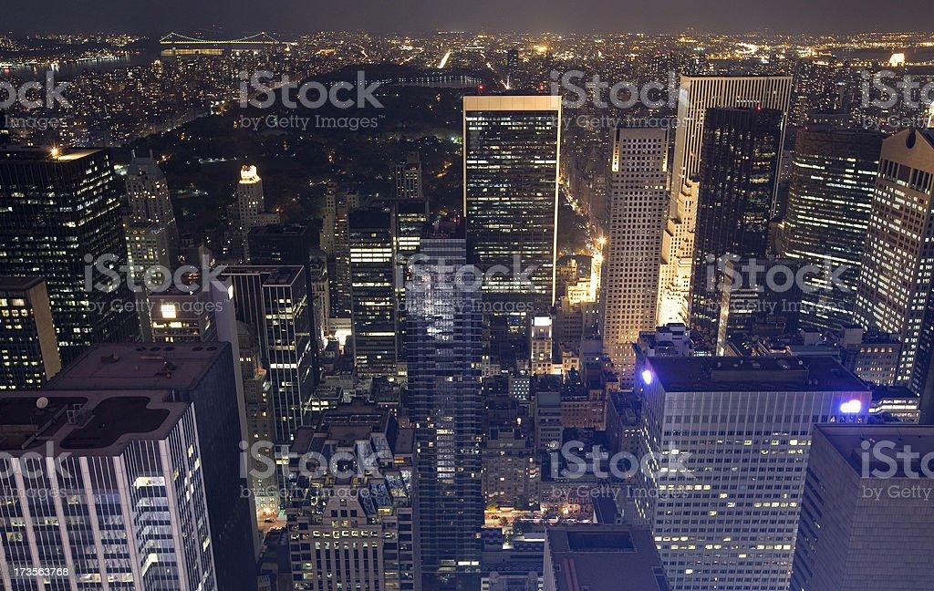 Midtown Manhattan At Night royalty-free stock photo