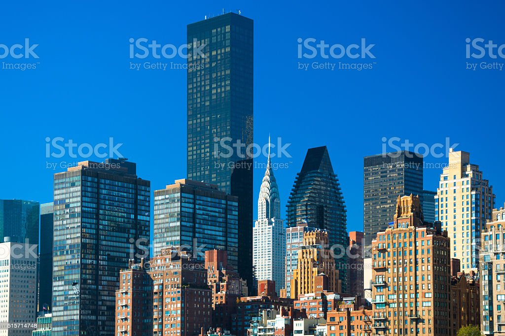 Midtown Manhattan buildings / architecture stock photo