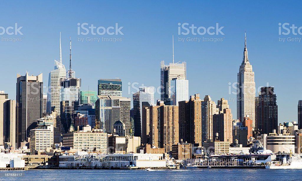 Midtown Manhattan City Skyline in New York USA royalty-free stock photo