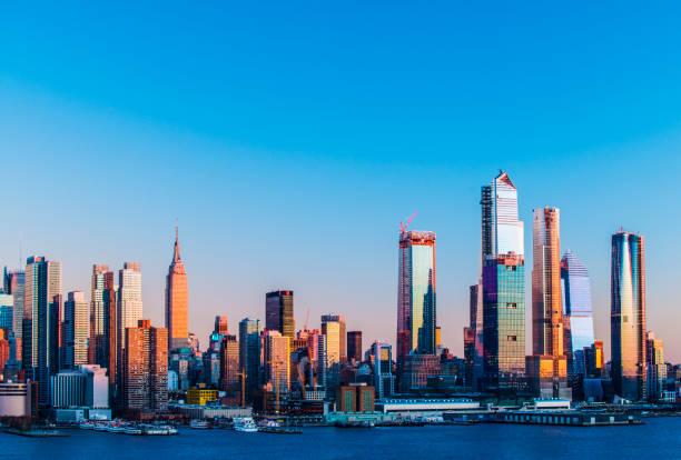 Midtown Manhattan City Skyline, New York City, USA stock photo