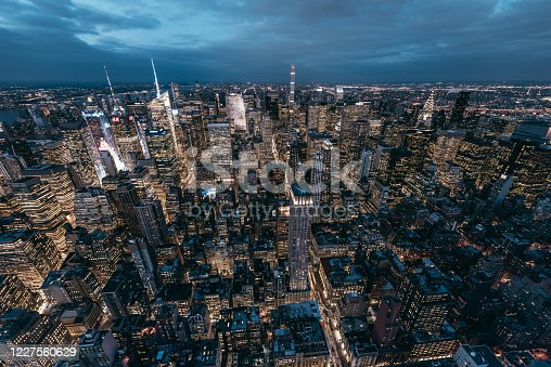 947373704 istock photo Midtown Manhattan Skyline and Skyscrapers at Night 1227560629