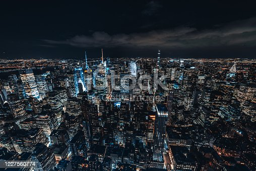 947373704 istock photo Midtown Manhattan Skyline and Skyscrapers at Night 1227560774
