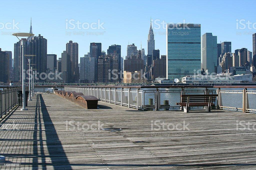 Midtown Manhattan skyline, New York City royalty-free stock photo