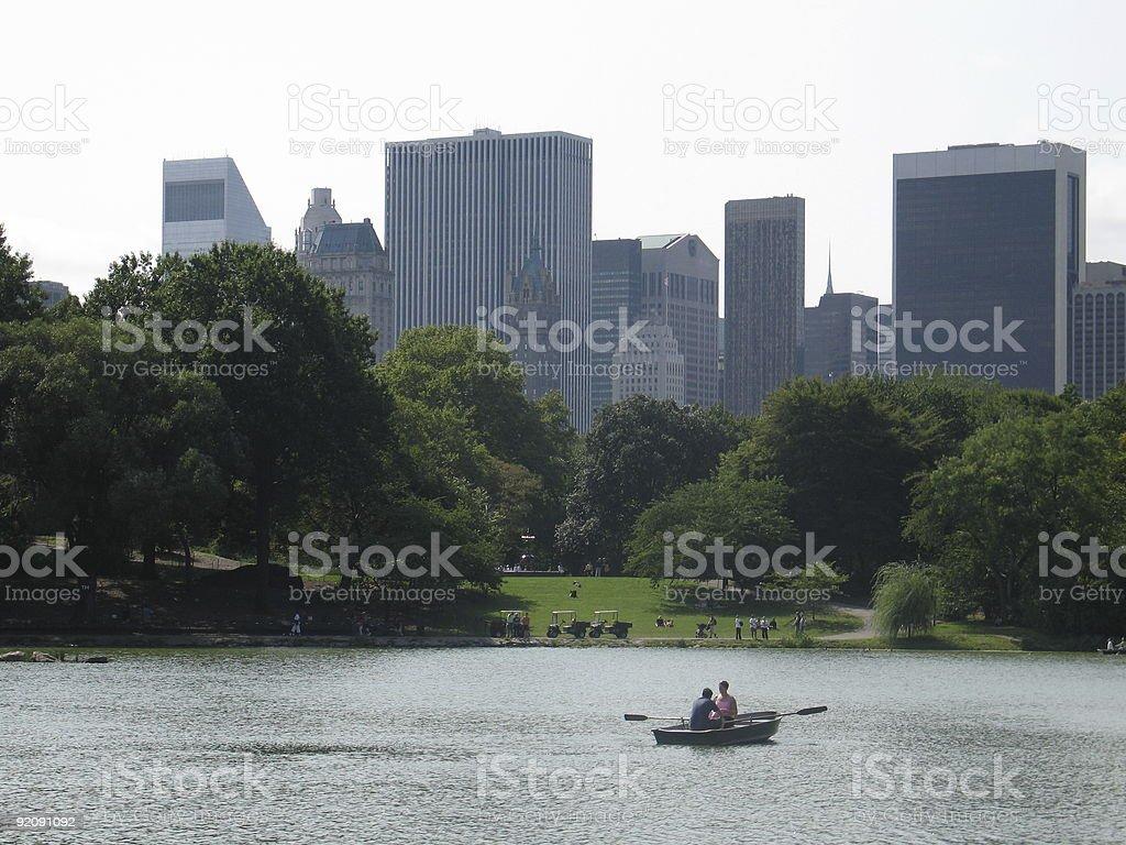 Midtown Manhattan skyline royalty-free stock photo