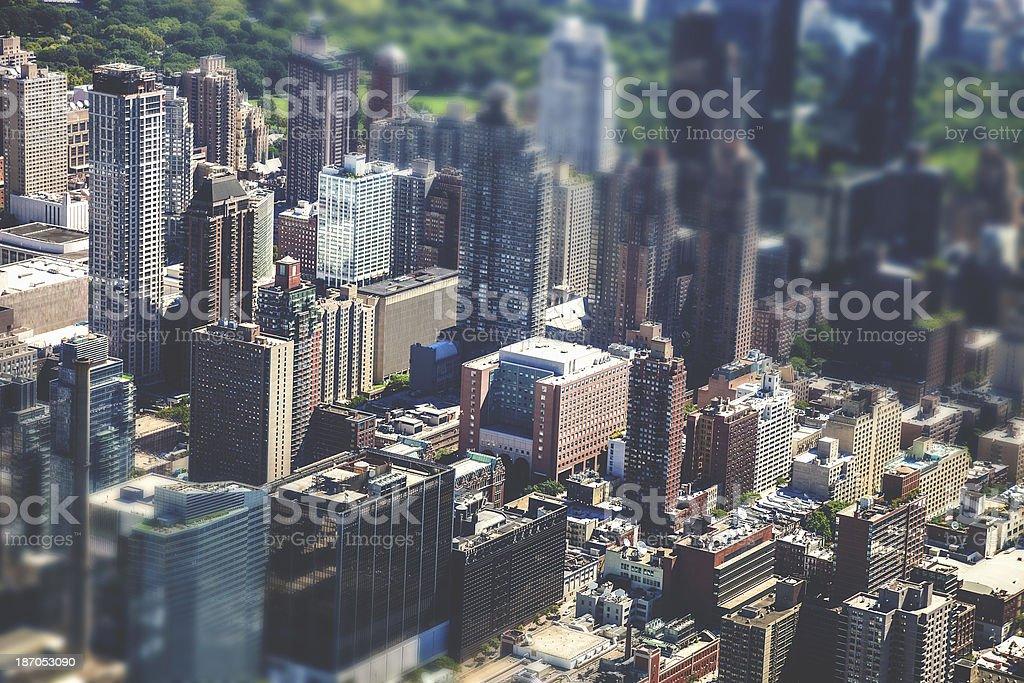 Midtown Manhattan skyscrapers royalty-free stock photo