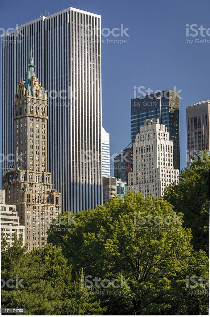 Midtown, Manhattan, South East Central Park, New York City stock photo