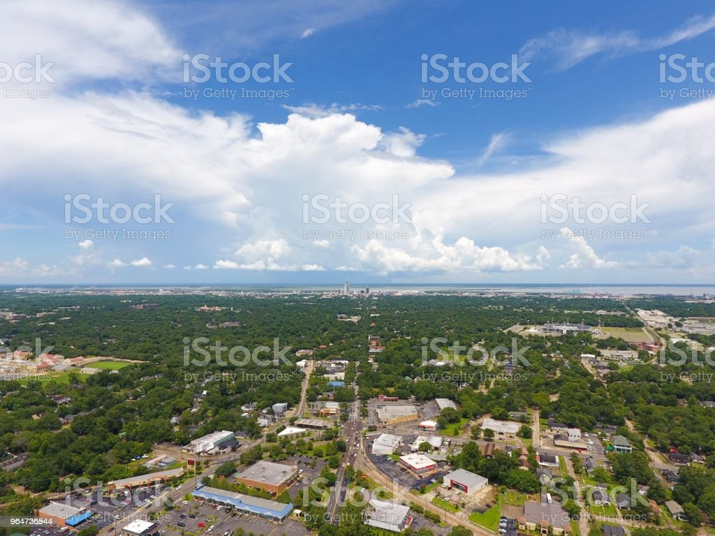 Midtown Mobile Alabama Stock Photo & More Pictures of Aerial View