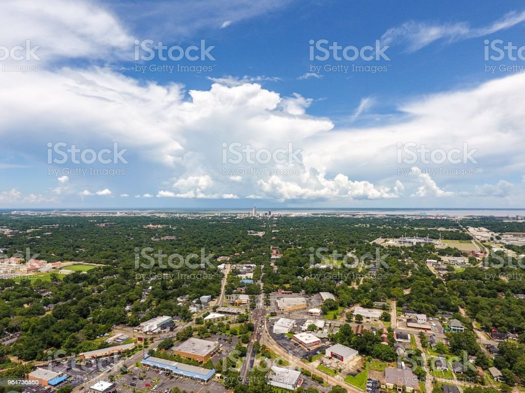 Midtown Mobile, Alabama royalty-free stock photo