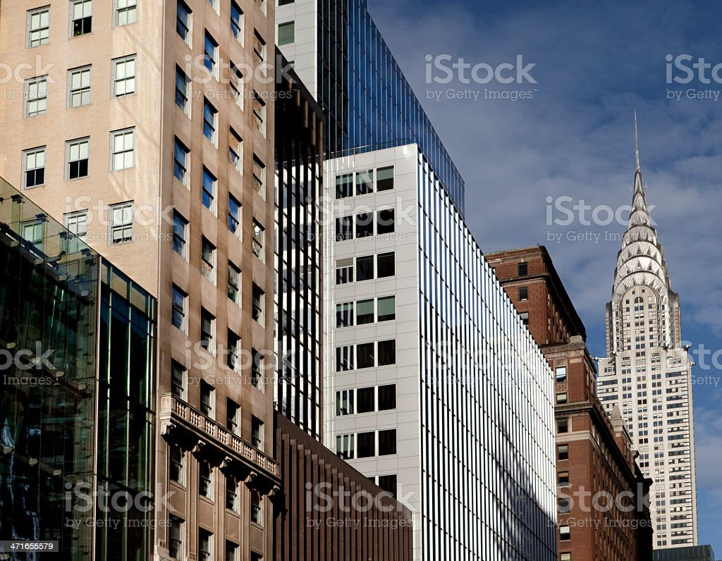 Midtown Office Buildings royalty-free stock photo
