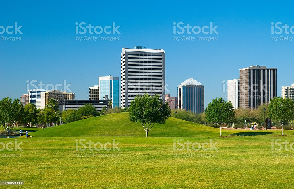 Midtown Phoenix and Park royalty-free stock photo