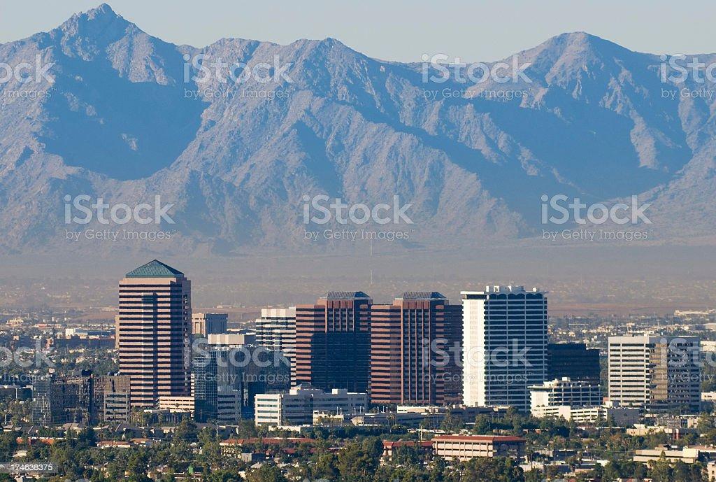 Midtown Phoenix Closeup royalty-free stock photo
