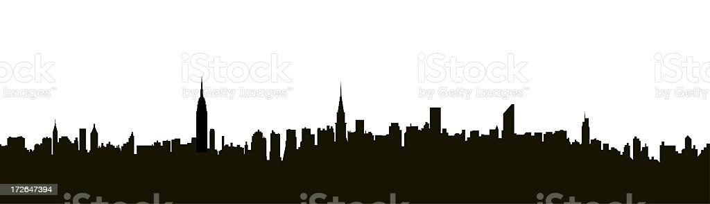 NYC Midtown Skyline stock photo