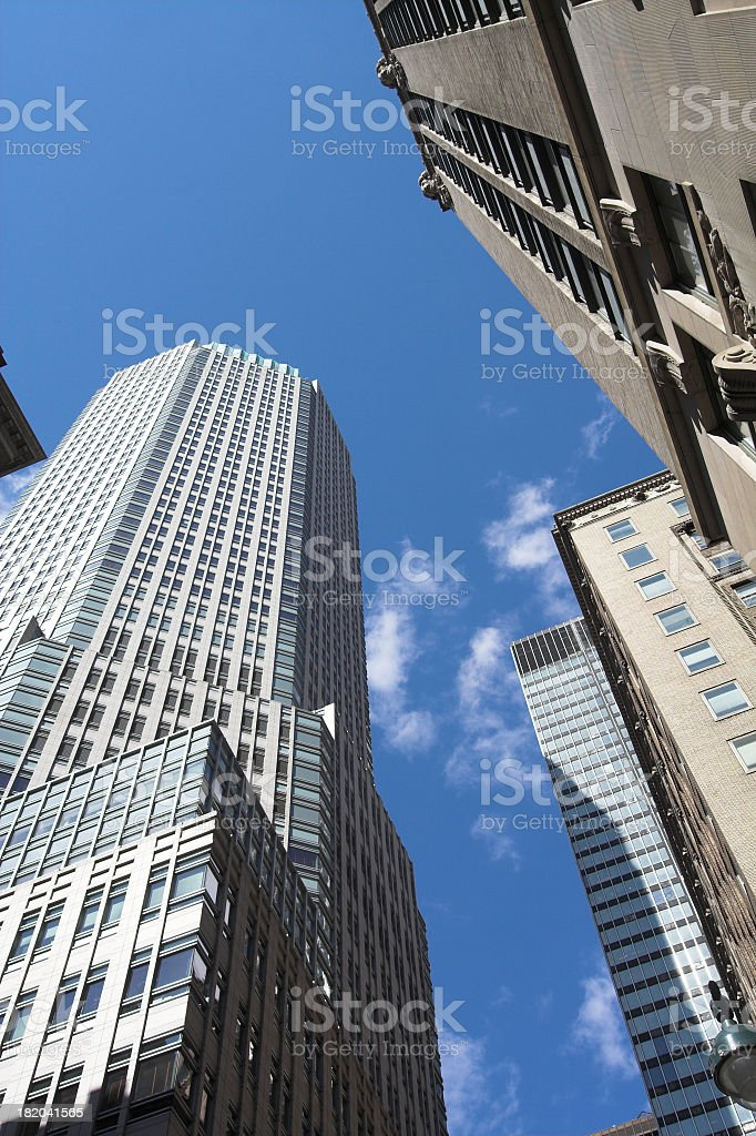 Midtown Skyscrapers in NYC royalty-free stock photo