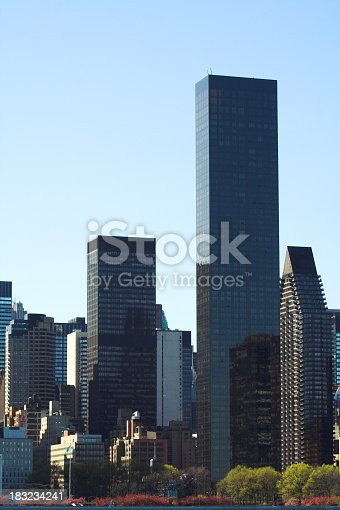 East side towers in Manhattan.