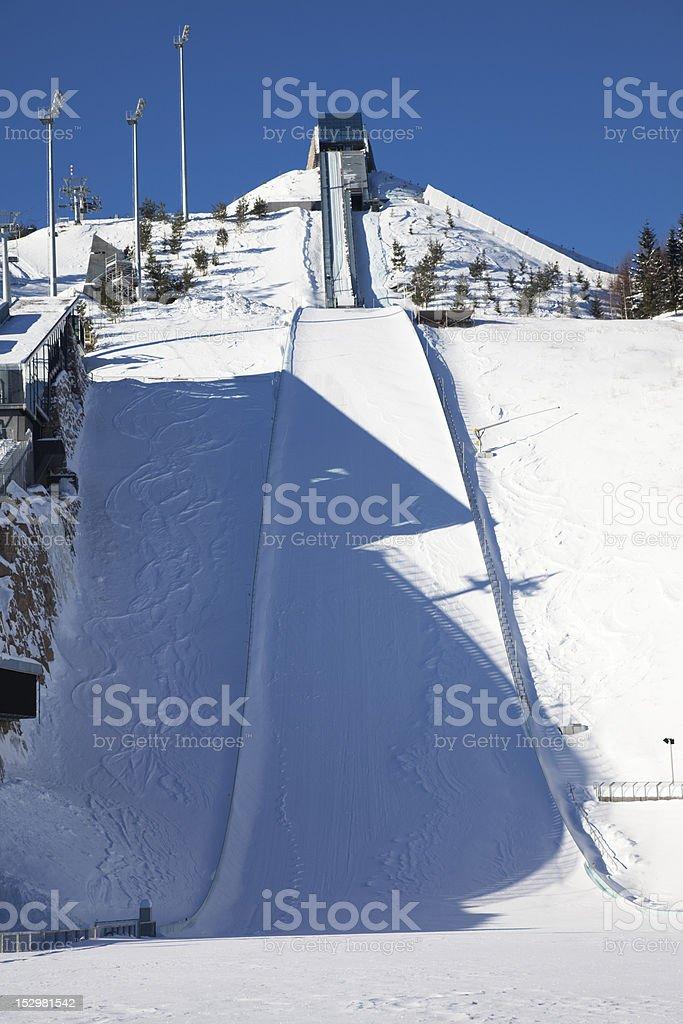 Midtstubakken ski-jump in Oslo, Norway stock photo