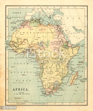 istock Mid-Victorian map of Africa 157316529