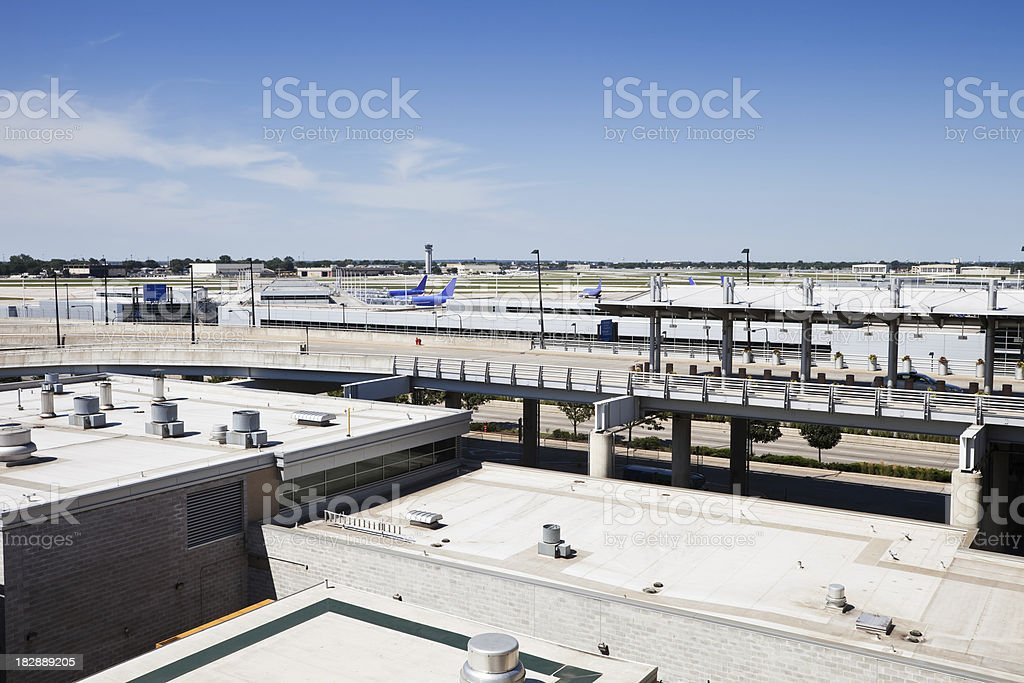 Midway Airport, Chicago stock photo
