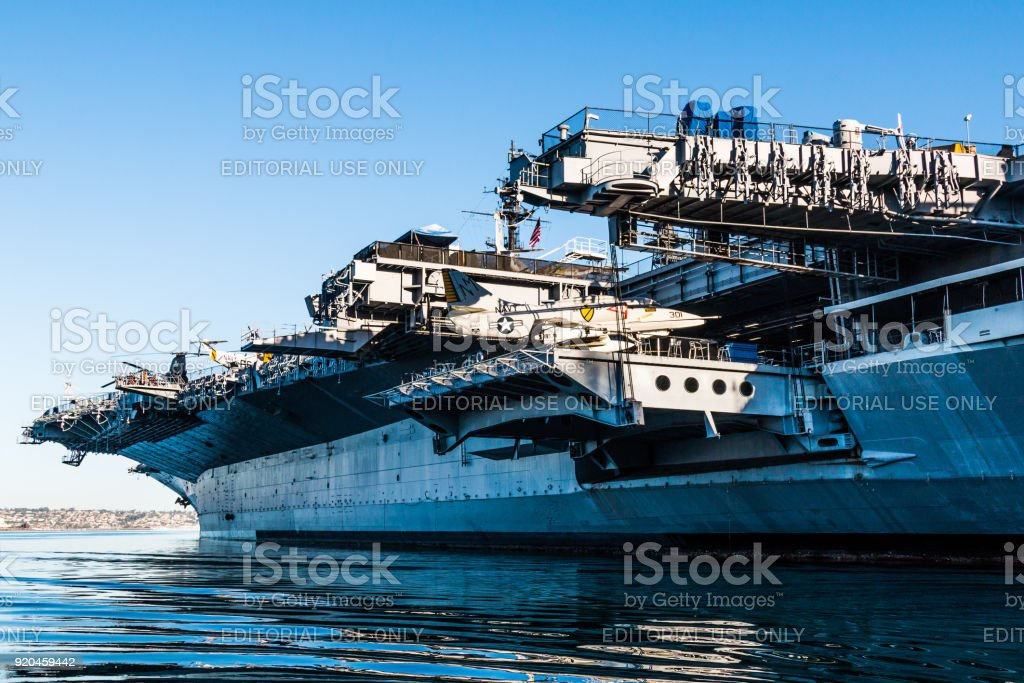 USS Midway Museum in San Diego, California stock photo