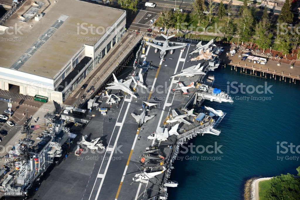 USS Midway Museum stock photo