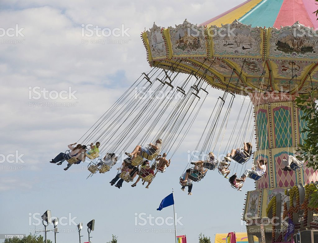 Midway Swing stock photo
