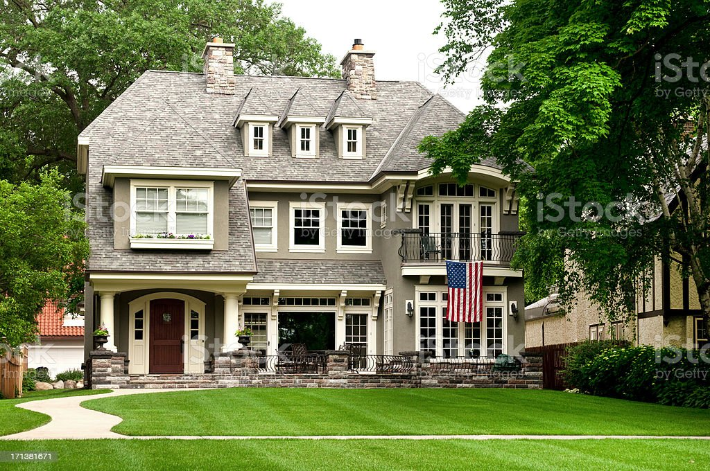 Midwest Mansion stock photo