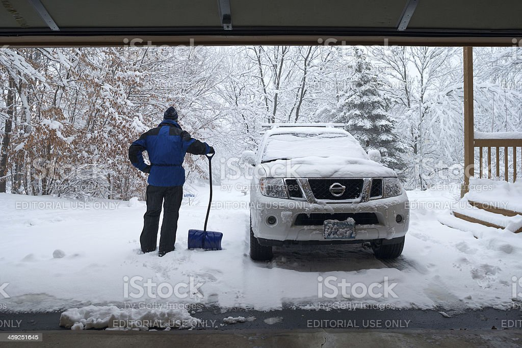 Midwest snowstorm. royalty-free stock photo