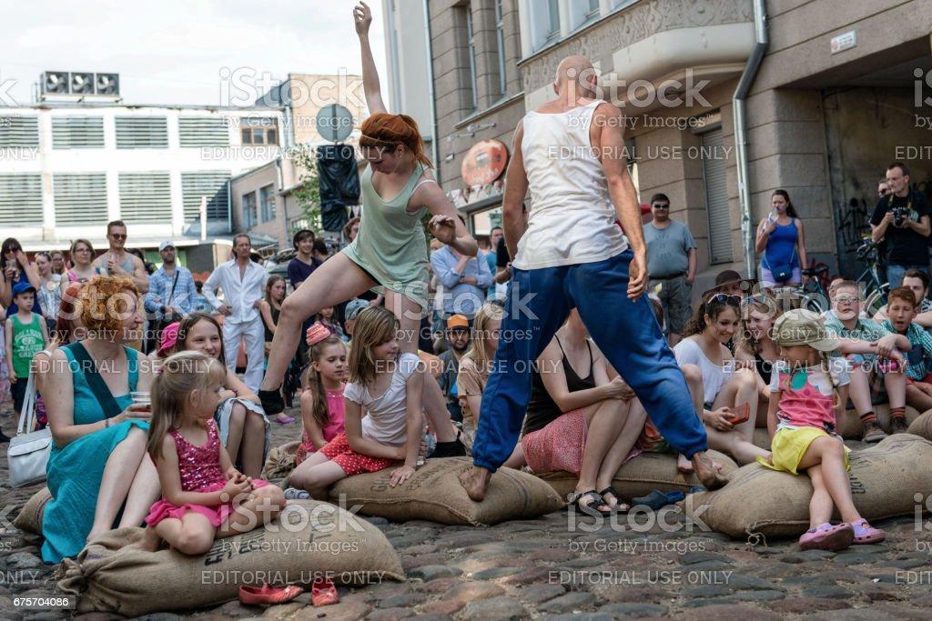 Miera 街五旬節。街舞音樂會。 免版稅 stock photo