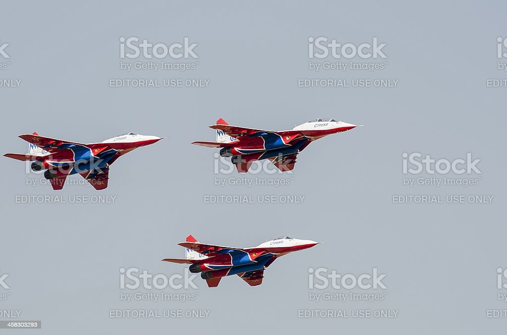 Mig-29 Fighter Aircrafts royalty-free stock photo
