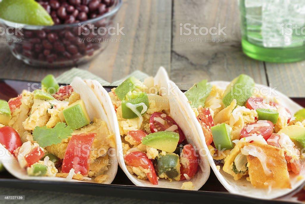 Migas Tacos stock photo