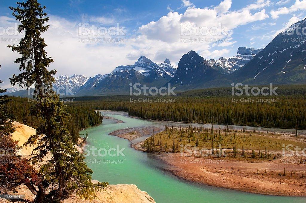mighty Canadian Rockies royalty-free stock photo