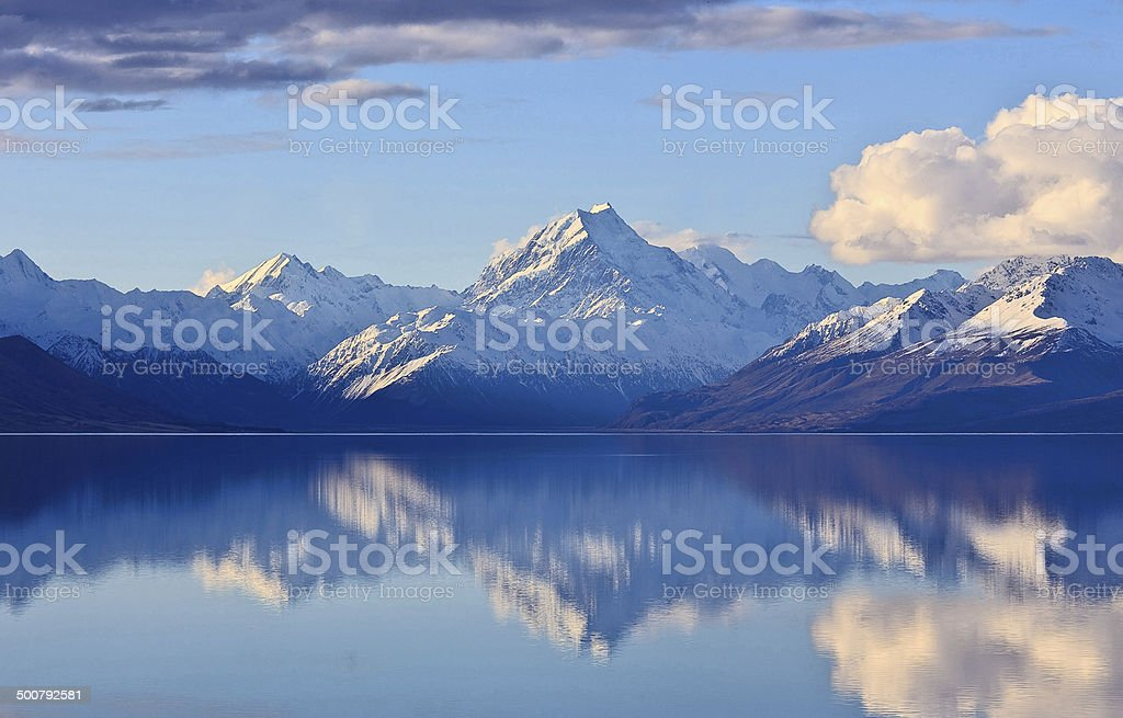Mighty Mountain Reflection stock photo