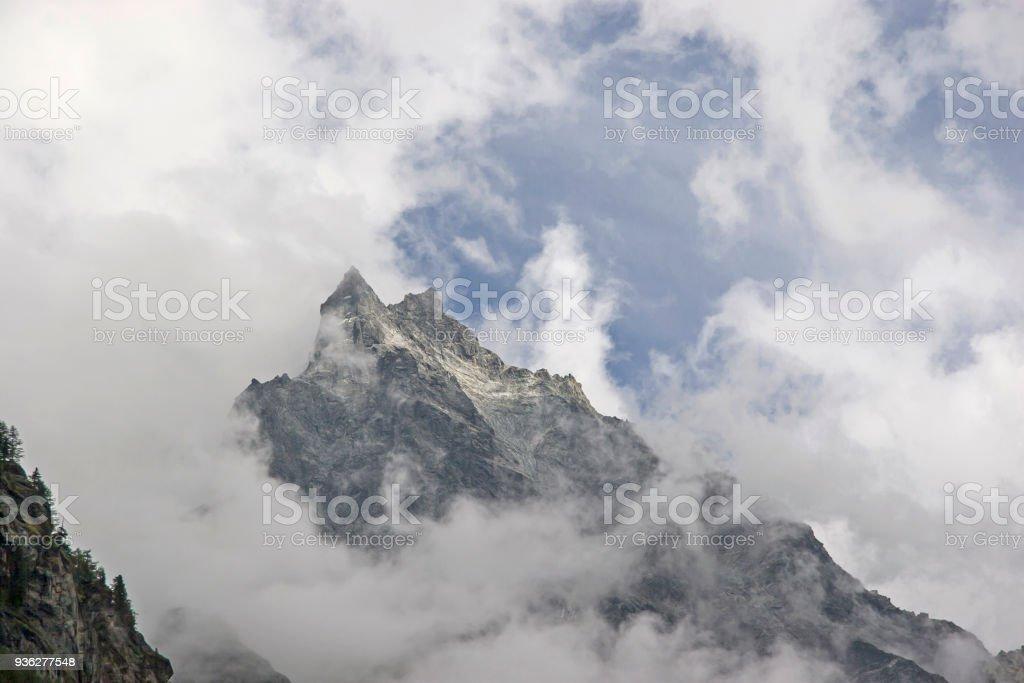Mighty three-thousander in Switzerland stock photo