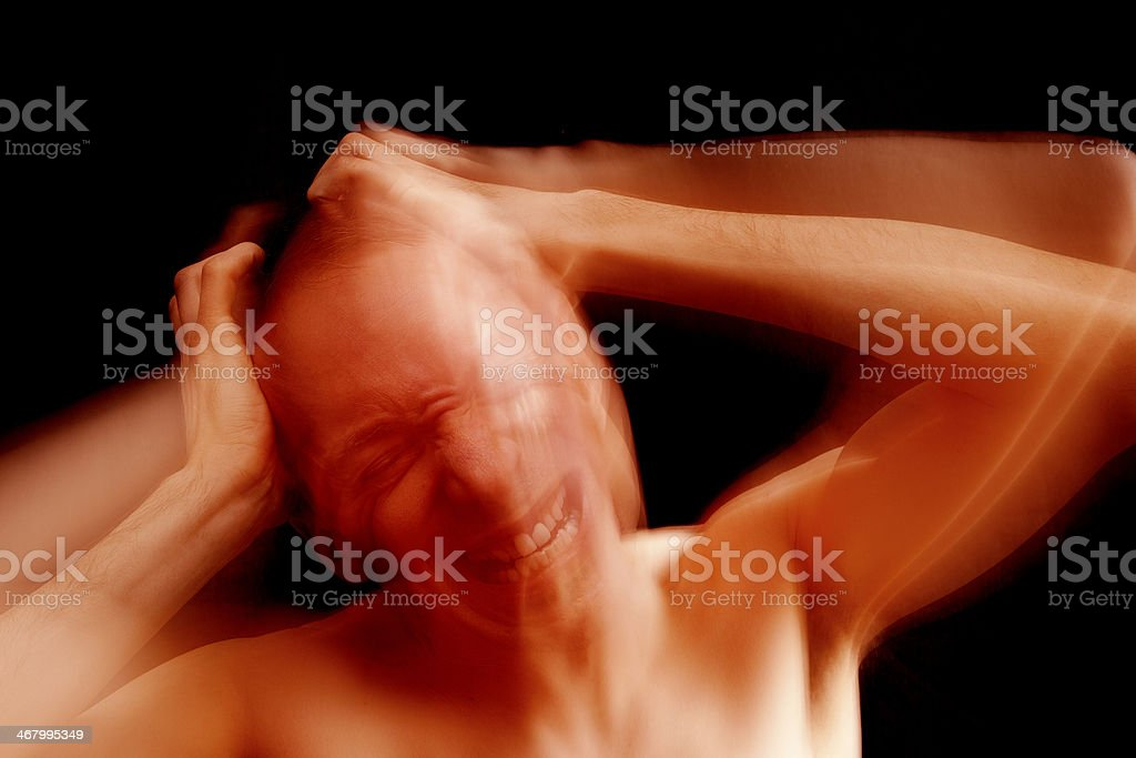 Migraine headache royalty-free stock photo