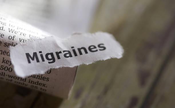 migräne - definition krankheit stock-fotos und bilder