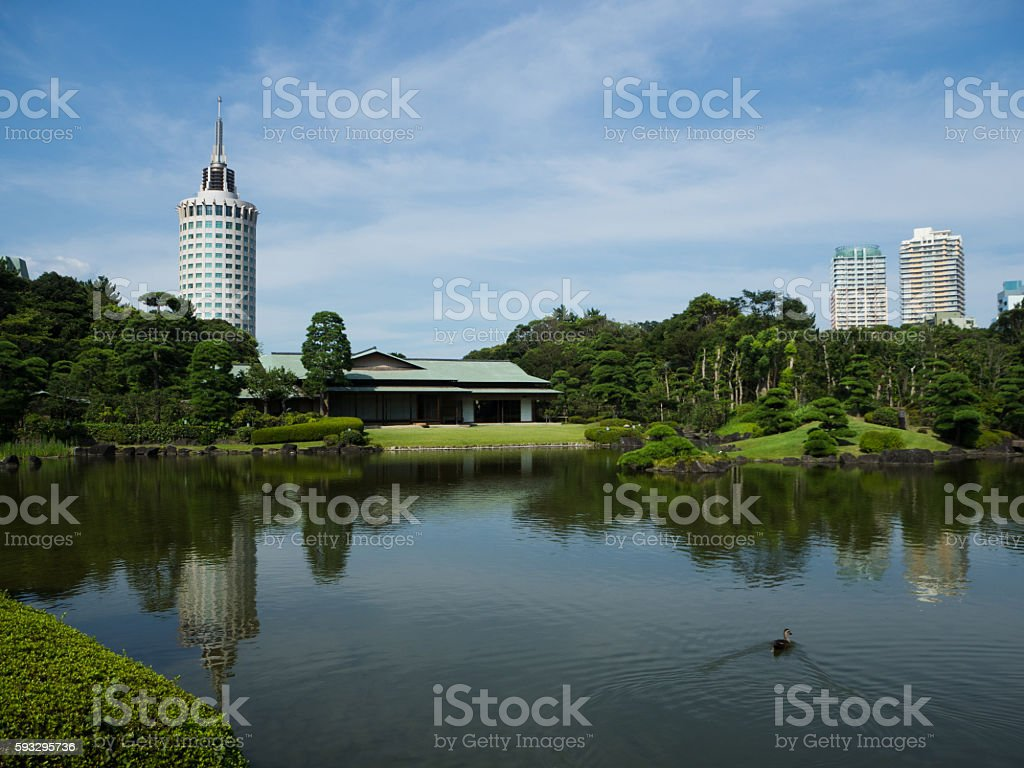 Mihama Garden of Makuhari Seaside Park stock photo