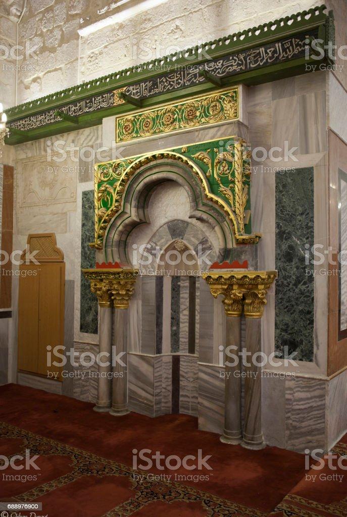 Mihrab of Zekeriya Mihrab of Zekeriya Allah Stock Photo