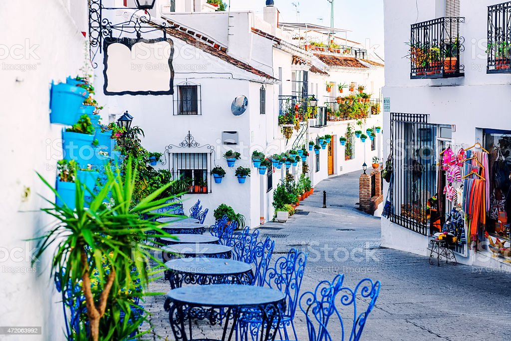 Mijas street stock photo