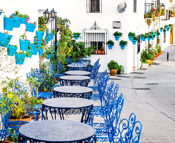 Mijas street Mijas street. Charming white village in Andalusia, Costa del Sol. Southern Spain southern charm stock pictures, royalty-free photos & images