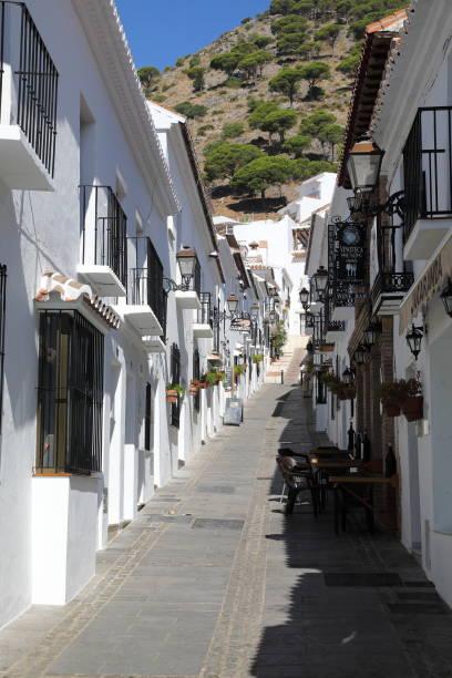 mijas - the white town above fuengirola - pejft stock photos and pictures