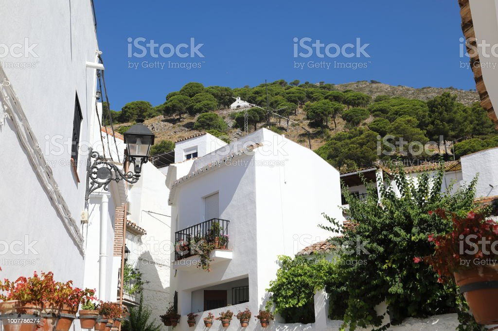Mijas - the white town above Fuengirola stock photo