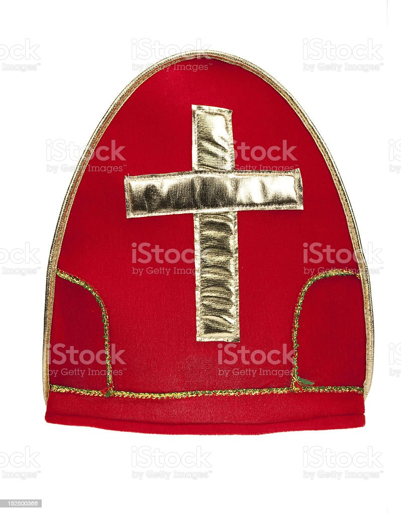 afa19e96ee218 Mijter Of Sinterklaas Isolated Stock Photo   More Pictures of Cap ...