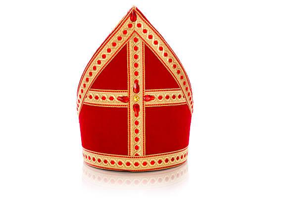 mijter de sinterklaas (saint-nicolas - saint nicolas photos et images de collection