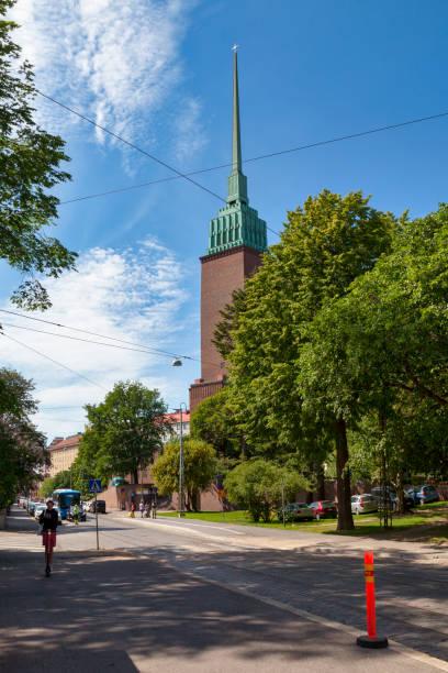 Mikael Agricola Church in Helsinki stock photo