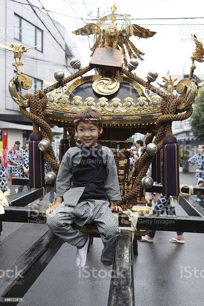 mikoshi stock photo