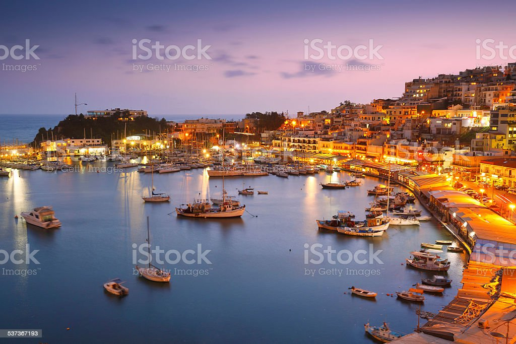 Mikrolimano marina in Athens. stock photo