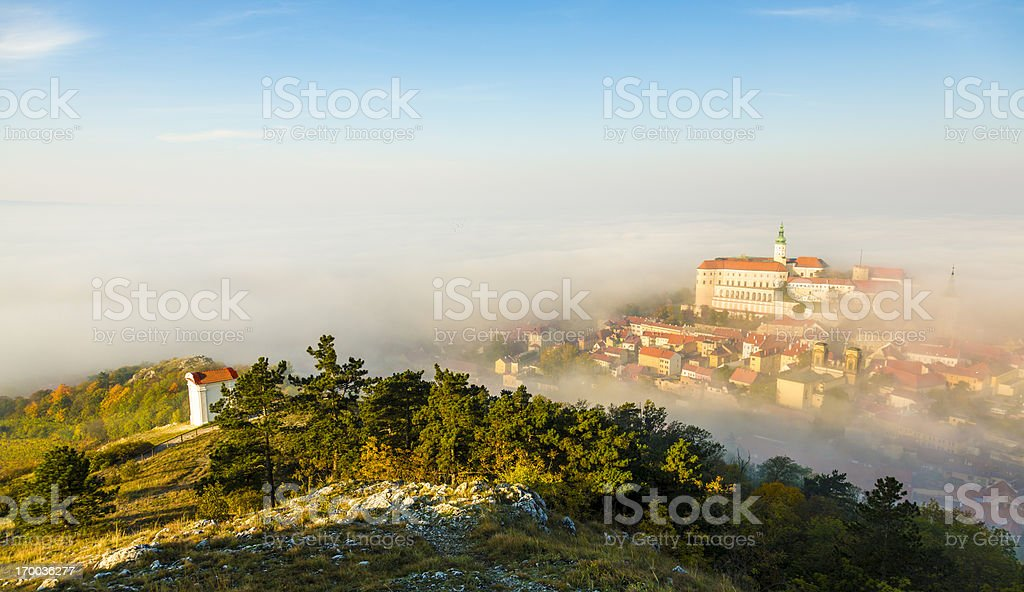 Mikulov, Moravia, Czech Republic stock photo